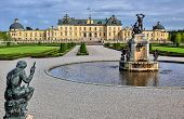 foto of yellow castle  - Photo of Drottningholm castle in Sweden at summer - JPG