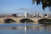 pic of rosslyn  - Rosslyn Virginia and Potomac River during the morning - JPG