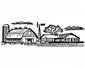 pic of dairy barn  - Farmhouse And Barn  - JPG