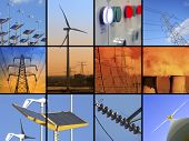 pic of electricity pylon  - Set of twelve images relating to electricity - JPG