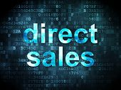 Advertising concept: Direct Sales on digital background