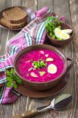stock photo of lenten  - Cold soup with beet root - JPG