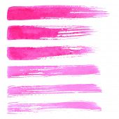 stock photo of rough-water  - Watercolor paint brush strokes - JPG