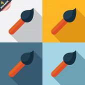 Paint brush sign icon. Artist symbol.