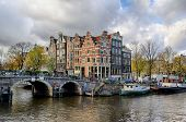 Amsterdam Canal And Bridge