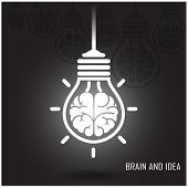 stock photo of left brain  - Creative brain Idea concept background design  - JPG
