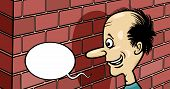 Talking To A Brick Wall Cartoon