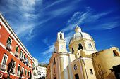 beautiful panoramic view  church of Procida