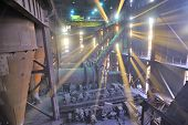 foto of blast-furnace  - Interior of metallurgical plant workshop - JPG