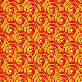 Design Seamless Colorful Swirl Pattern. Bright Geometric Oval Diagonal Background