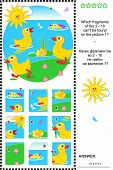 image of fragmentation  - Cute little ducklings visual logic puzzle - JPG