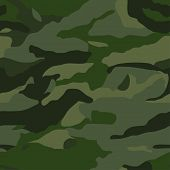 stock photo of khakis  - Khaki camouflage seamless pattern for the military - JPG