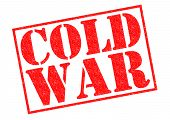 stock photo of cold-war  - COLD WAR red Rubber Stamp over a white background - JPG