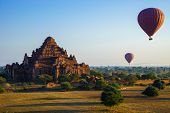 picture of pagan  - Dhammayangyi temple at sunrise The biggest Temple in Bagan  - JPG