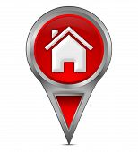 map pointer with home symbol