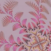 picture of asymmetrical  - Fabulous asymmetrical pattern of the leaves on gray background - JPG