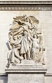 image of charles de gaulle  - The beautiful sculptural detail on the Arc de Triomphe in Paris France - JPG