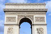 foto of charles de gaulle  - The impressive Arc de Triomphe in Paris France - JPG