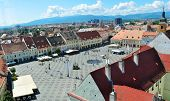 stock photo of sibiu  - sibiu city romania Grand Square general view - JPG