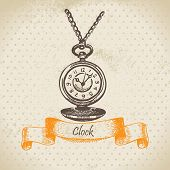 stock photo of pendulum clock  - Vintage clock - JPG
