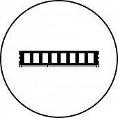 foto of memory stick  - ram memory stick symbol - JPG