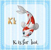 image of letter k  - Illustration of a letter K is for koi - JPG