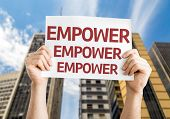 picture of empower  - Empower card with a urban background - JPG