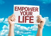 picture of empower  - Empower your Life card with sky background - JPG