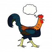 picture of cockerels  - cartoon cockerel with thought bubble - JPG
