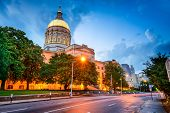 stock photo of capitol building  - Georgia State Capitol Building in Atlanta - JPG