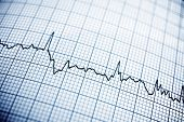stock photo of electrocardiogram  - Close up of an electrocardiogram in paper form - JPG