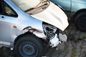 picture of accident victim  - Close Up Of Car Smashed In Accident - JPG