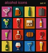 stock photo of bing  - Alcohol drinks icons - JPG