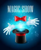 foto of sorcery  - Magic trick performance - JPG