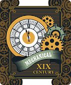 pic of steampunk  - Vector Steampunk mechanical watches parts and gears - JPG