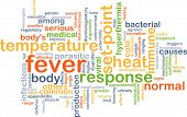 stock photo of ibuprofen  - Background concept wordcloud illustration of fever - JPG