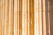 pic of ionic  - Ionic column background in Acropolis in Greece - JPG