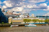 stock photo of victorian houses  - View of the City of London Custom House  - JPG