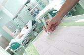 pic of intensive care  - Clock surveillance of patients in intensive care concept  - JPG