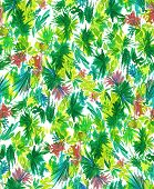 picture of jungle flowers  - seamless botanical design - JPG