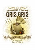 foto of bayou  - Louisiana traditional gris gris bag isolated on white - JPG