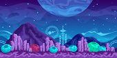 pic of fantasy world  - Fantasy  seamless background for mobile game - JPG