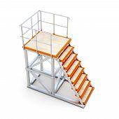 stock photo of stairway  - Stairways to access the ramp - JPG