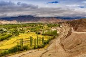 picture of jammu kashmir  - Rocky landscape of Leh City with Himalayan mountains in background Ladakh Jammu and Kashmir India - JPG