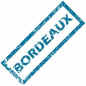 picture of bordeaux  - Vector blue rubber stamp with city name Bordeaux - JPG