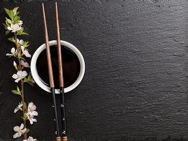 pic of black-cherry  - Japanese sushi chopsticks - JPG