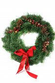 picture of christmas wreath  - festive christmas decorations - JPG