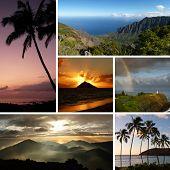 Постер, плакат: Гавайи коллаж с несколько типичных фотографий
