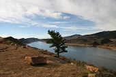stock photo of horsetooth reservoir  - horsetooth reservoir near fort collins in colorado - JPG