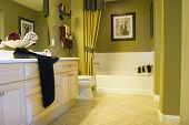 pic of bathroom sink  - Modern tastefully decorated bathroom - JPG